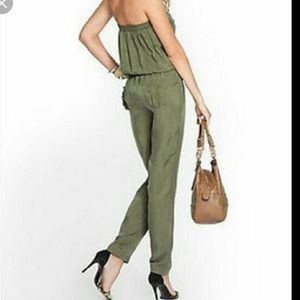 Guess Olive Satin strapless jumpsuit